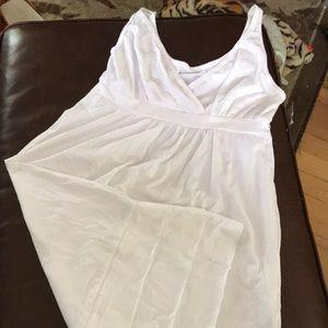 Vneck tee shirt dress